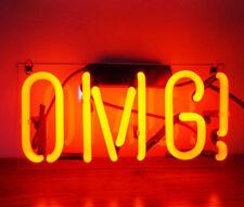 "New Omg Oh My God Bar Pub Logo Acrylic Neon Light Sign 14"""
