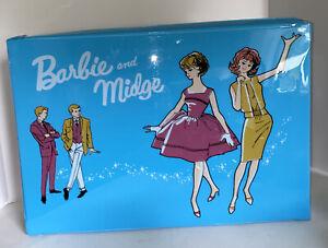 Barbie And Midge Doll Storage Case Vintage Mattel Vinyl Includes 2 Barbies