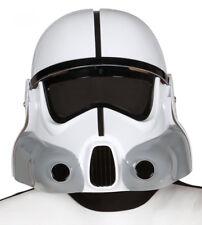 Sci Fi Soldier Stormtrooper Helmet Fancy Dress Full Overhead White Plastic NEW