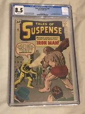 TALES OF SUSPENSE #40 CGC 8.5 WHITE PAGES - 2ND APPEARANCE IRON MAN