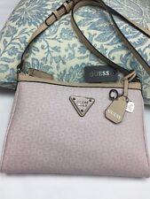 """Guess nandbag crossbody Shoulder Bag 8""""X11"""" Logo Pink 100% Authentic NEW$135"""