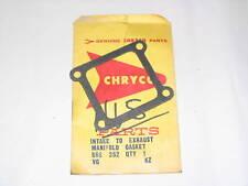 37-54 Chrysler Desoto Intake Exhaust Manifold Gasket NOS 666352