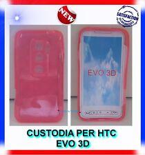 Custodia+Pellicola COVER CERCHI-ROSA  per HTC EVO 3D