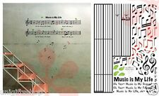 Music Sheet music Wall Decal Room Stickers Living Room Bedroom Room Decor