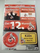 Aufkleberkarte 1.FC Köln 5xVerschiedene Motive Lagerräumung