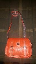 dooney and burke orange leather purse