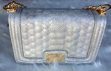 bebe Bag Gillian Silver Crossbody Gold Chain Purse $98.00. RGT 🌹