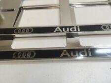 2X NEUF AUDI TT Q5 Q7 A6 A5 A3 A4 EXCLUSIF SUPPORT DE PLAQUE D'IMMATRICULATION