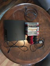 Sony PlayStation 3 Slim 160GB Black Console CECH-3001A + Controllers + Games Lot
