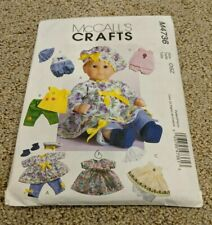 """McCall's Crafts Baby Doll Outfit M4736 (Size 11""""-14"""", 14""""-16"""")"""