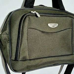 Dockers Laptop Bag Attache Travel Suitcase Forest Green Briefcase Airline NWOT