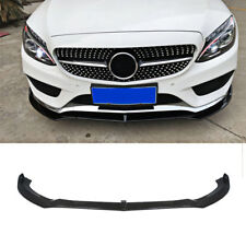Front Bumper Chin Lip For 2015-2017 Benz C-Class W205 Sport DP Style Gloss Black