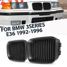 For BMW E36 1992-1996 318i 325i Front Matte Black Kidney Sport Hood Grill Grille