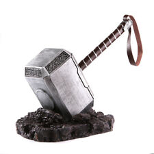 1:1 Full Solid Avengers Thor Hammer Replica Prop Resin Metal Mjolnir Cosplay