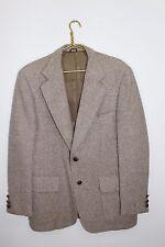 Anthony Allan~Mens Sz 44R~TRUE VINTAGE~Tweed~Flecked~Beige/Khaki/Tan~Sport Coat