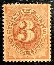 1879 US Postage Due Stamps #J3 Mint  CV:$100