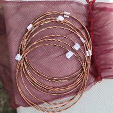 9 x Light-Life Technology Sacred 1 Cubit Plain Jane Copper Tensor Ring Slim Spur