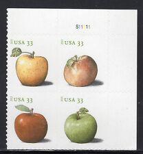 Sc# 4730a 33 Cent APPELS (2013) MNH PB/4 P# S11111 UR SCV $4.00