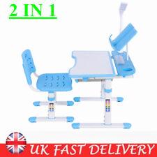 Height Adjustable Kids Comfortable Chair Desk Ergonomic Children Study Table UK