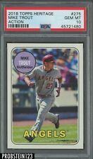 2018 Topps Heritage #275 Mike Trout Action Angels PSA 10 GEM MINT