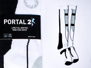 PORTAL 2 LONG FALL KNEE HIGH SOCKS BRAND NEW UNWORN BOOTIES VALVE APERTURE LABS
