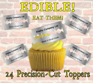 24 EDIBLE PEAKY BLINDERS SHELBY RAZORS Toppers,THICK Wafer Card,~PRECISION-CUT~