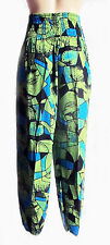 GREEN HAREM TROUSERS - ALADDIN PANTS ALIBABA HIPPIE FESTIVAL BOHO one size new