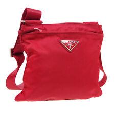 Prada сумка через плечо #26 кошелек красный нейлон Италия винтаж авт JT09491