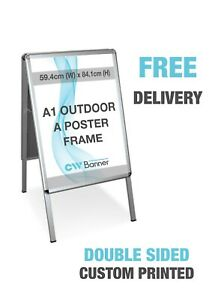Printed Pavement Sign - Waterbase Outdoor Poster Display Stand(A1)- Double Sided