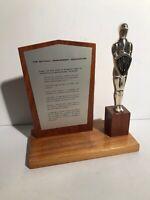 "Vintage National Management Association Trophy Silver Knight 10""X10"" NMA Manager"