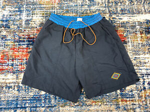 Vtg Cannondale Cycling Shorts Padded Mens Sz Large Blue/Black USA Made Baggy