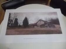 ESTATE FIND UNFRAMED RAY HENDERSHOT FARM ON THE HILL  PRINT  B