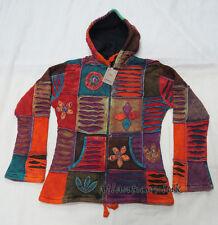 J579 XL Fleece Hoodie Ladies stone wash Rib Cotton patch razor cut Jacket Nepal