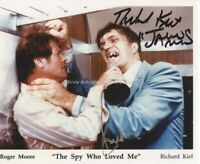 JAMES BOND Roger Moore & Richard Kiel Autograph Signed AFTAL & UACC DEALER
