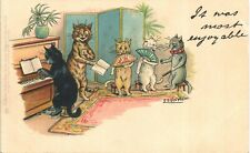 More details for louis wain cats. it was most enjoyable in series 539 by tuck. piano.
