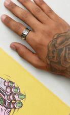 Brand New 925 Sterling Silver Aztec Design Adjustable Ring for Men UK Seller