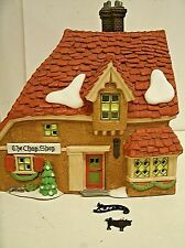 """Dept 56 Dickens Village """"The Chop Shop""""  #58331 Lighted House"""