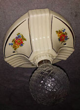 VTG DECO VICTORIA 30's CHANDELIERS PORCELAIN CEILING FIXTURES BY PORCELIER