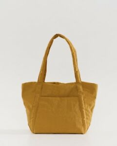 New w/tags BAGGU Mini Cloud Bag Lightweight Nylon Packable Tote, Camel