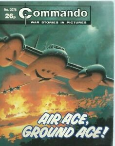 AIR ACE,GROUND ACE,COMMANDO WAR STORIES IN PICTURES,NO.2078,WAR COMIC,1987
