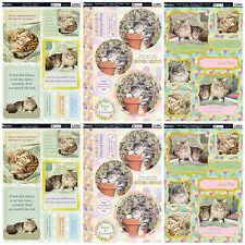 Kanban card kit Feline friends cute cats, die cut paper craft toppers cardmaking