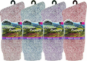 3 Ladies ProHike™ Outdoor Pursuits Cotton Rich Hiking Boot Socks UK 4-8