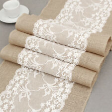 Wedding Party Table Runne Hessian Natural Burlap Jute  Fabric for Vintage Rustic