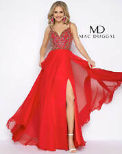 Authentic Mac Duggal 66028 Dress-Color: Rio Red-Size: 4-Prom Dress-Reg $538