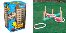 GIANT JENGA + QUOITS PARTY GARDEN GAMES. INDOOR OR OUTDOOR GAME PACKAGE