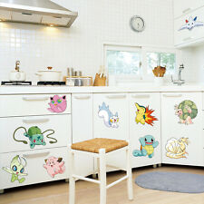 POKEMON Pocket Monster PIKACHU WALL STICKER Vinyl Decals Mural Kids Room Decor