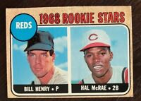 1968 Topps Bill Henry & Hal McRae Rookie Card VG-NM