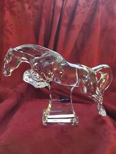 FLAWLESS Exquisite BACCARAT Crystal JUMPING CHEVAL Collection HORSE Figurine
