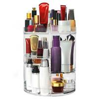YITAHOME 360 Degree Rotating Makeup Cosmetic Rack Organizer Storage Box Case