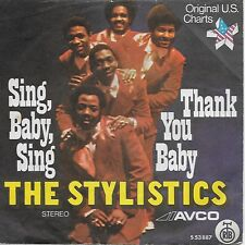 The STYLISTICS SP YUGOSLAVIA SING BABY SING, THANK YOU BABY